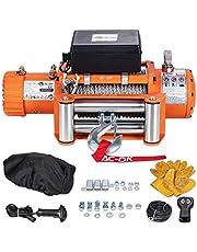 AC-DK Electric Winch Orangr Model 9500 lb to 13500 lb