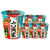 [Value Pack] JAPAN ROKKAKUYA Tonkotsu And Soy Sauce Taste Ramen Shop's Instant Pot Noodle 6 pcs Set