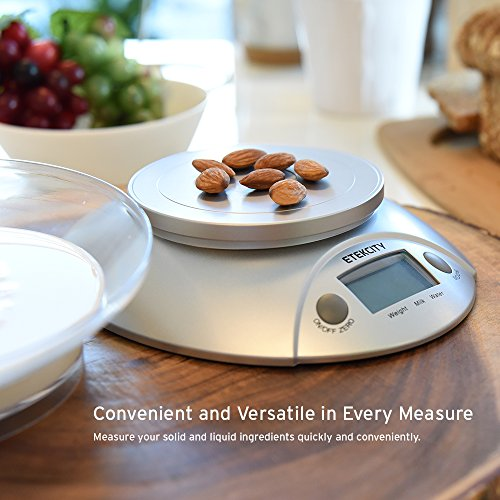 Etekcity Digital Kitchen Food Scale and Multifunction Weight Scale with Removable Bowl, 11 lb 5kg by Etekcity (Image #3)
