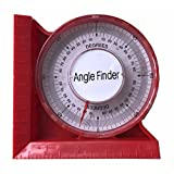 """0-5""""/120mm Magnetic Angle Locator Level & Tool Dial Gauge Angle Finder Magnetic Protractor"""