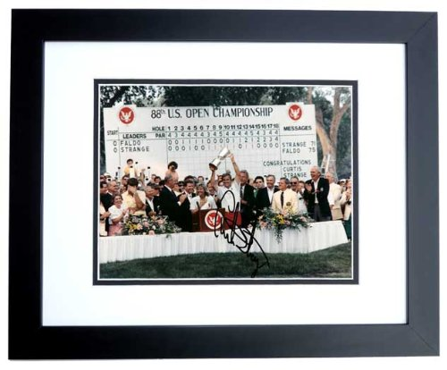 - Curtis Strange Signed - Autographed Golf 8x10 inch Photo BLACK CUSTOM FRAME - Guaranteed to pass PSA or JSA