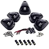 2002 f250 cab lights - HERCOO Smoke Roof Cab Marker Lights Lens w/ LED Assembly Aftermarket Replacement for Ford F150 F250 F350 F450 F550 Super Duty (Qty:5)