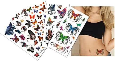 39171849c 6-pack Value Plus Butterflies Temporary Tattoos - Butterfly Temporary  Tattoos for Lower Back,