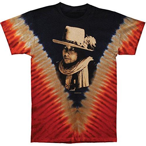 Bob Dylan Men's Rolling Thunder Tie Dye T-shirt X-Large Multi