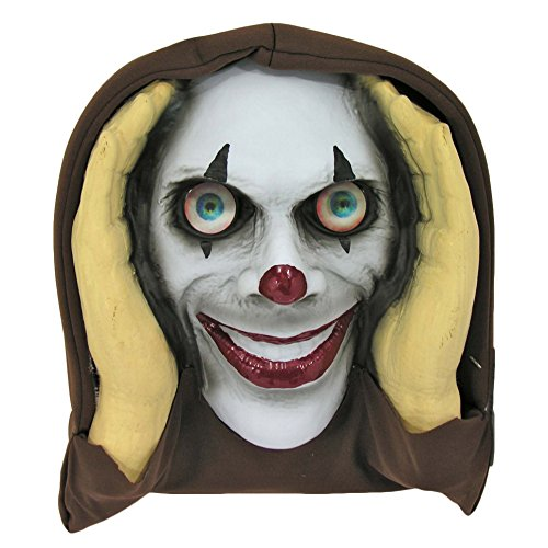 Forum Scary Clown Peeper Prank w Moving Lenticular Eyes Prop, White (Scary Looking Clowns)