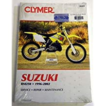 ATV/Moto-X Suzuki Clymer Manual Models RM 250 1996-2002 WSM M401