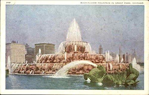 Buckingham Fountain, Grant Park Chicago, Illinois Original Vintage Postcard - Buckingham Fountain