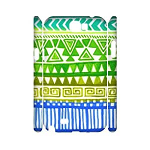 Green Tribal Pattern 3D-Printed ZLB556924 Personalized 3D Phone Case for Samsung Galaxy Note 2 N7100 by lolosakes