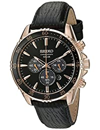 Seiko Men's SSC448 Chronograph Analog Display Japanese Quartz Black Watch