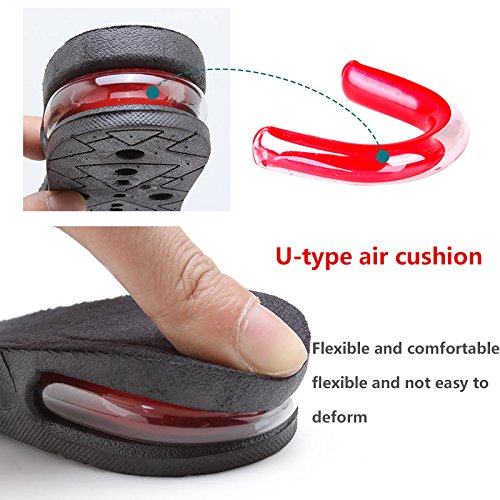 Height Increase Insole 3-layer Air Cushion Heel Insert Lift Shoes Insole for Men and Women Invisible Elevator Adjustable Breathable Insoles by XXIN (Image #1)