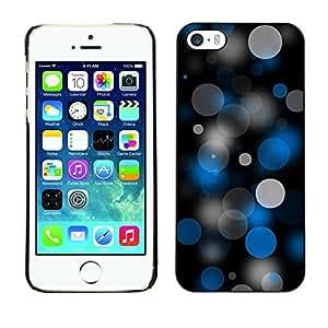 Be Good Phone Accessory // Dura Cáscara cubierta Protectora Caso Carcasa Funda de Protección para Apple Iphone 5 / 5S // Dots Spots Art Pattern Wallpaper Blue Grey Black