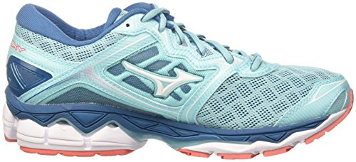 Hotcoral para Aquasplash Wos 01 White Mizuno Mujer de Zapatillas Sky Multicolor Running Wave qnw1gP