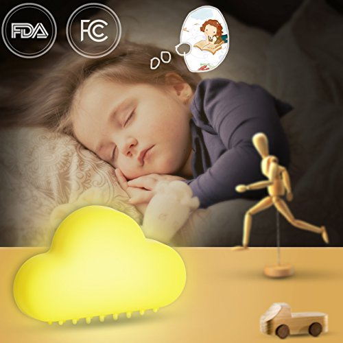 LED Night Lights for Kids Baby Nursery Infant Toddlers Nightlights Touch Sensor Portable Automatic Decorative Wall for Child Bedroom USB Charger White Yellow (yellow)
