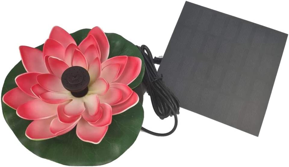 Patgoal Solar Powered Multi-Colored LED Lotus Flower Lamp Water Resistant Outdoor Floating Pond Night Light Auto On//Off for Garden Pool Party Ideal Gift