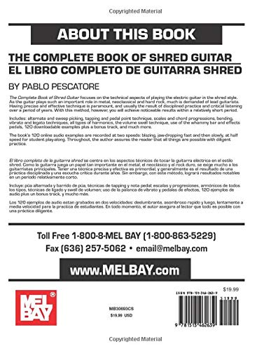 The Complete Book of Shred Guitar-El libro completo de guitarra ...