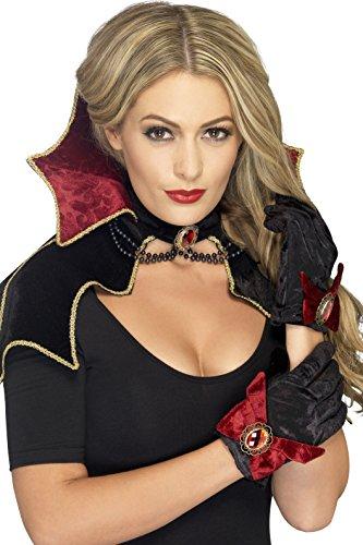 Smiffy's Women's Fever Vamp Kit, Cape, Collar and Gloves, Halloween, Fever, One Size, 43006