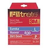 Filtrete Hoover R30 plus MicroAllergen Bags, 5 Bags and 3 Filters Per Pack