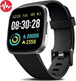 7. MorePro Smart Watch IP68 Waterproof Activity Tacker with Heart Rate Blood Pressure Monitor, Sleep Tracking Fitness Watch with Android & iOS Calorie Step Counter Touch Screen Pedometer for Women Men