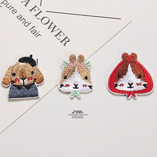 Korean fine embroidery house rabbit brooch brooch pin badge Dodge lop bunny three family portrait