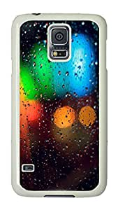 VUTTOO Rugged Samsung Galaxy S5 Case, Colorful Rainy Grass PC Hard Case for Samsung Galaxy S5 I9600 White