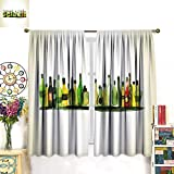 Best InterDesign Water Bottles - longbuyer Blackout Curtain Watercolor Painting of Alcohol Bottles Review