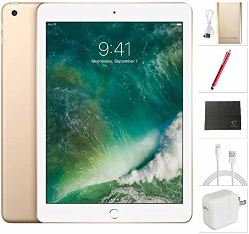 Apple iPad Wifi 2017 model - 9.7 inch - 32GB, Gold + USA Warehouses Accessories Bundle MPGT2LL/A