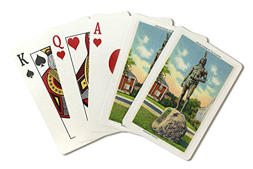 - Plymouth, Massachusetts - View of the Massasoit Statue # 2 (Playing Card Deck - 52 Card Poker Size with Jokers)