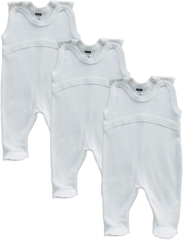 Baby Body wei/ß f/ür Jungen MEA BABY Unisex Baby Achselbody aus 100/% Baumwolle im 5er Pack Baby Body f/ür M/ädchen Baby Body Weiss