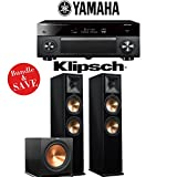 Yamaha AVENTAGE RX-A2070BL 9.2-Channel 4K Network A/V Receiver + Klipsch RP-280F + Klipsch R-115SW - 2.1-Ch Home Theater Package (Piano Black)