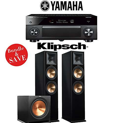 Yamaha AVENTAGE RX-A2070BL 9.2-Channel 4K Network A/V Receiver + Klipsch RP-280F + Klipsch R-115SW - 2.1-Ch Home Theater Package (Piano Black) by Yamaha