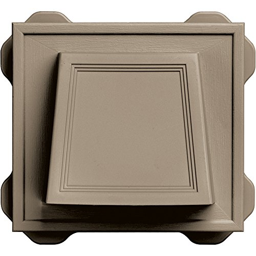 "Builders Edge 140116774095 4"" Hooded Dryer Vent 095, Clay"