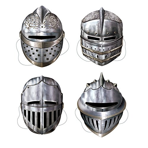 Beistle 66802 Knight Masks Party Accessory , Multicolored, 4-pcs | (1-Pack) ()
