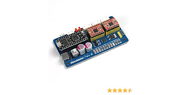 EleksMaker® ManaSE 2-Achsen Schrittmotor Treiber Regler Board für DIY-Lasergravierer: Amazon.es: Industria, empresas y ciencia