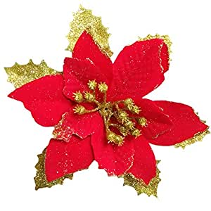 share facebook twitter pinterest - Poinsettia Christmas Decorations
