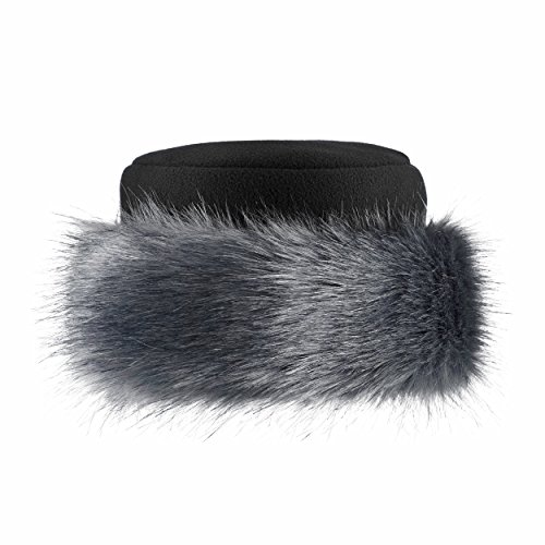 Futrzane Faux Fake Fur Hat with Fleece Russian Cossack Winter Ladies Women  (M b071da9af156
