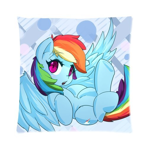 My Little Pony Custom Pillowcase Pillow Sham Throw Pillow Cushion Case Cover Two Sides Printed 16x16 Inches