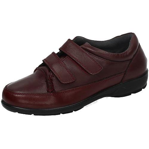 WUAPAS BSW161005 Mocasines DE Piel SEÑORA Zapatos MOCASÍN Burdeos 36