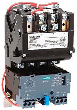Siemens 14due32af heavy duty motor starter solid state for Manual motor starter with overload protection