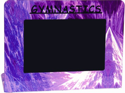 Purple Gymnastics Metal Picture Frame