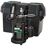 WAYNE WSS20V Pre-Assembled 120 V/12V 1/3 HP Primary and Battery Backup Combination Sump Pump System