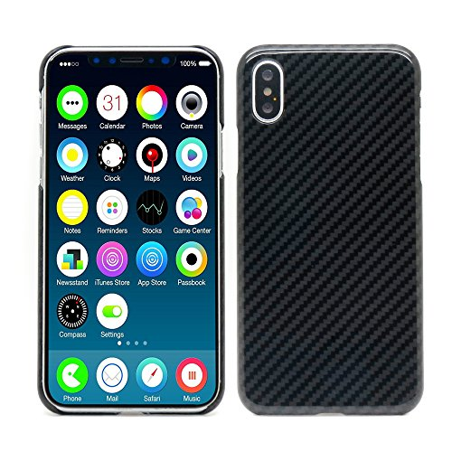 Cheap MIGOOZI iPhone X Case, iPhone XS Case, 0.7mm Ultra Thin Real Aramid Fiber (Real Body Armor Material) Carbon Fiber Pattern Phone Case Cover for Apple iPhone X/iPhone XS (Glossy Black)