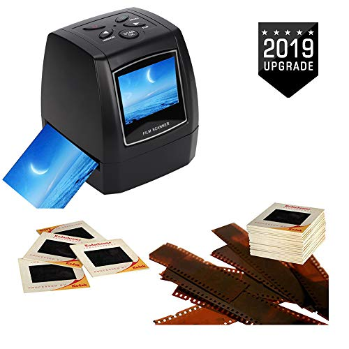 "Wendry HD Film Scanner, 2.36"" TFT LCD Screen 5MP/ 10MP USB 135/ 35mm Portable Negative Film Scanner, Support SD MMC Card, Suitable for Office and Home"