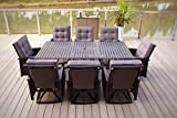 9pc Palmetto Aluminum and Wicker Swivel Patio Dining Set – Black Review
