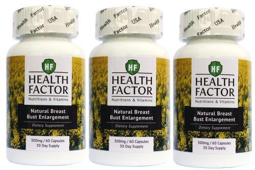 Pills élargissement Breast Enhancement Buste Traitement de l'acné naturel à base de plantes pour les femmes par facteur de la santé (3 bouteilles, 180 Capsules)