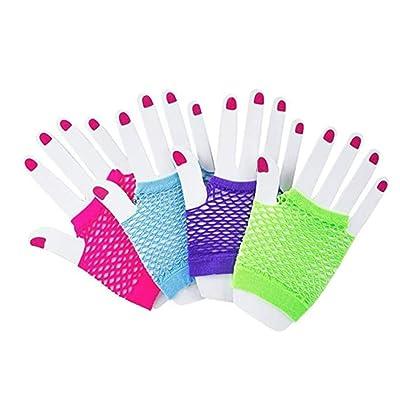 Assorted Fingerless Diva Fishnet Wrist Gloves - short - 1 Dozen Pairs: Toys & Games