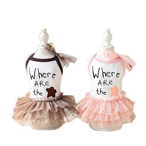Global Brands Online Summer Dog Dress Star Pattern Lace Pet Skirt Puppy Cat Clothes Pets Princess Dresses