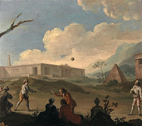 [Oil Painting 'Flipart Charles Joseph El Juego De Balon Ca. 1796', 18 x 20 inch / 46 x 52 cm , on High Definition HD canvas prints is for Gifts And Home Theater, Powder Room And Study Room] (Tim Drake Costume)