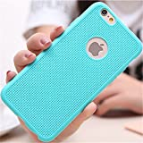 ikazen Heat Dissipation Hollow Thin Soft TPU Back Case Cover for Apple Iphone 5 5S - Sky Blue