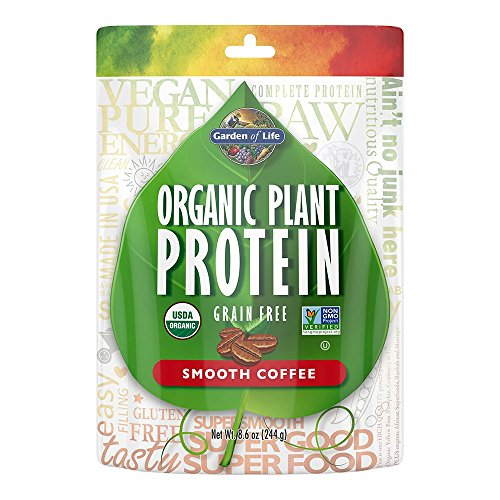 Garden of Life Organic Protein Powder - Vegan Plant-Based Protein Powder, Coffee, 8.6 oz (244g) Powder