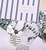 2018 Graduation Gift Necklace - Congrats Grad Stainless Steel Jewelry for Graduates